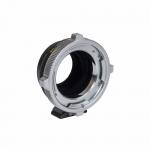 Lens mount adapter for using PL lenses on E mount cameras